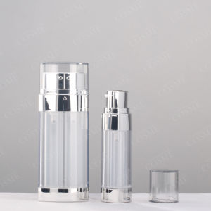 20ml 30ml Acrylic Luxury Aluminium as Cosmetic Airless Dual Chamber Pump Bottle pictures & photos