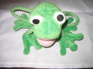 Rope Product Supply Plush Frog Dog Pet Toy pictures & photos