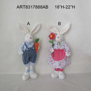 Easter Decoration Standing Boy and Girl Bunny-2 Asst pictures & photos