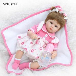NPK Doll 16 Inch Reborn Babies Doll Bebe Reborns Lifelike Newborn Baby Soft Silicone Doll Real Baby