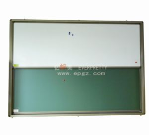 2PCS up&Down Sliding Green White Board pictures & photos
