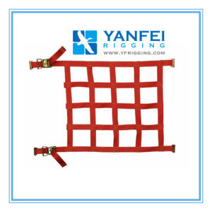 Yanfei-Polyester Webbing Cargo Net with Ratchet, Truck Nets, Trailer Nets pictures & photos