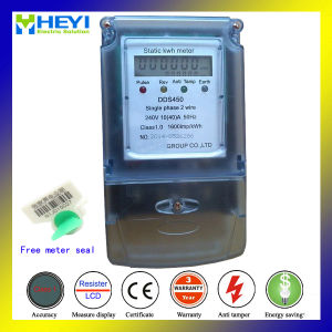 Bi-Directional Energy Meter Single Phase Two Wire 230V 10/100A with Plastic Meter Seal pictures & photos