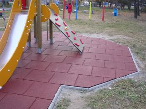 Kindgarten Playground Rubber Tiles Outdoor Rubber Tile Playground Rubber Flooring pictures & photos