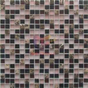 Matt Face Glass Mix Marble Mosaic Tiles (CS254) pictures & photos