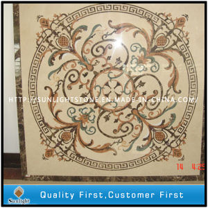 Cream Marfil/Emperador Light/Verde Green Marble Water Jet Medallion Floor Tile pictures & photos