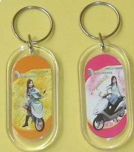 Plastic Key Chain, Cheaper Keychain, New Design Key Chain, Acrylic Key Chain pictures & photos