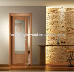 Interior Swinging Wood Door with Beveled Glass pictures & photos