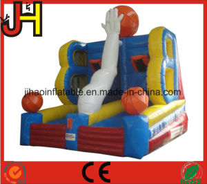 Inflatable Goal Bungee Run with Basketball Hoop Sport Game pictures & photos