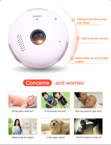 WiFi IP Camera Smart Baby Monitor P2p Wireless Waterproof 2 Way Audio Bulb Vr CCTV Camera pictures & photos