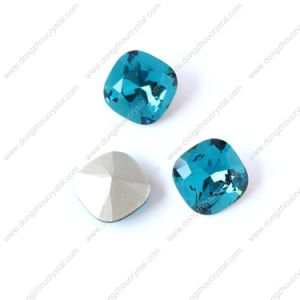 Foiled Backing Chrysolite Fancy Stone with Prong Setting pictures & photos