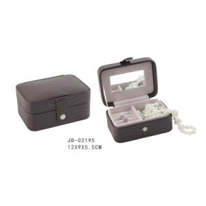 Promotion Brown PU Small Size Travel Jewelry Box