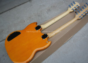 Hanhai 3 Colors Double Neck 6+12 Strings Electric Guitar pictures & photos