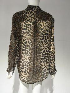 2017 fashion Leopard Print Blouse, Snake Print Blouse pictures & photos