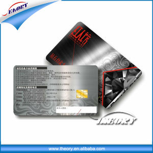 4c Offset Printing Cr80 Contact IC Card with At24c08 At24c64 Chip pictures & photos