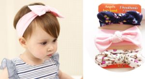 Wholesale Fashion Baby Hair Accessories Cotton Hairband Ribbon Bowknot Headband pictures & photos