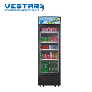 Glass Door Showcase Upright Fridge with 350L pictures & photos