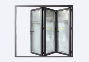 Double Glazing Aluminum Entrance Door pictures & photos