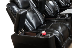 Home Cinema Leather Chair for Movie Theatre Chair Lounge Chair with Recliner pictures & photos