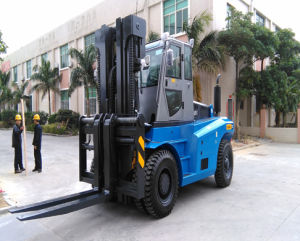 Counter Balance 12ton Heavy Duty Diesel Forklift with Cummins Engine pictures & photos