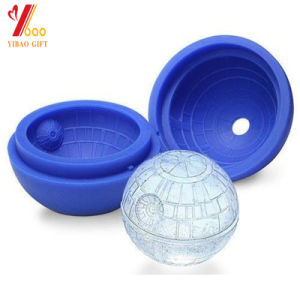 2017 Hot Creative Silicone Blue Wars Death Star Round Ball Ice Cube Mold Tray Desert Sphere Mould for DIY Cocktail Forma De Gelo pictures & photos