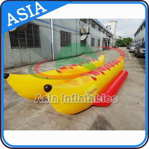Inflatable Yellow Crocodile Boat for Water Games, Inflatable Banana Boat pictures & photos