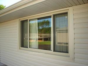 Passive Ventilation Aluminium Sliding Windows with Laminated Glass pictures & photos