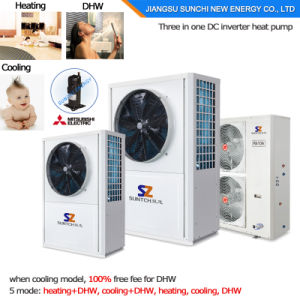 Domestic Fast Install Save 70% Power 2.5kw 150L, 3.5kw 200L, 260L R134A Max 60deg. C Dhw All-in-One Heat Pump Water Heater pictures & photos