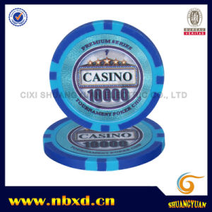 13.5g Clay Eight Stripe Poker Chip with Customize Sticker (SY-E25A) pictures & photos