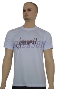 Ozeason Custom Dye Sublimation Printing Men′ S Summer White Printed T Shirt pictures & photos