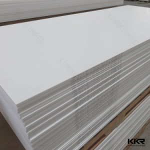 12mm Glacier White Solid Surface Artificial Stone Sheet pictures & photos