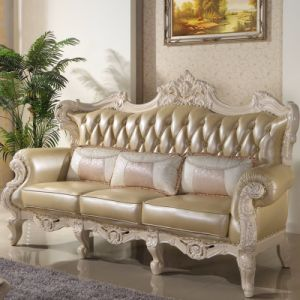 Living Room Furniture Set with Classic Leather Sofa (502) pictures & photos