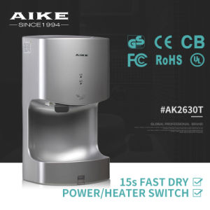 GS Certificate Most Energy Saving Eco ABS Body Automatic Infrared Sensor High Speed Jet Air Toilet Hand Dryer (AK2630T) pictures & photos