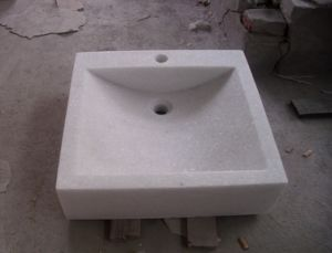 Crystal White Marble Sink for Bathroom pictures & photos