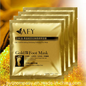 Renew Mask Popular Moisturizing Whitening Feet Mask Afy 24k Gold Foot Peeling Remove Dead Skin Feet Mask pictures & photos