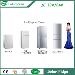 198litre Capacity Double Doors 80L Freezer Room Solar Upright Refrigerator pictures & photos