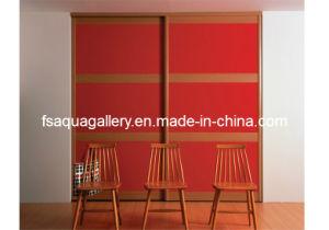 Red Modern Plywood Wardrobe