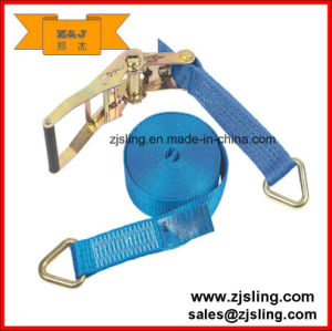 Ratchet Strap/Lashing with Delta Rings 8m X 50mm pictures & photos