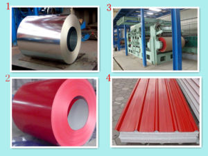 (0.12mm-1.3mm) Prepainted Galvanized Steel Sheets/Corrugated Gi Sheets/Steel Sheets pictures & photos