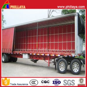 Automatic Tarpaulin PVC Box Van Curtain Side Semi Trailer pictures & photos