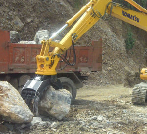 Rotating Hydraulic Stone Grapple for Komatsu Excavator pictures & photos