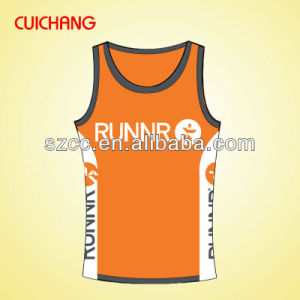 Singlet, Tank Top, Wholesale Polyester Heat Transfer Custom Design Gym Singlets Bx-040 pictures & photos
