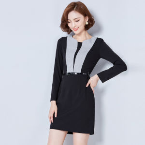 New Design Ladies Office Dress Slim Fit Career Women Dress pictures & photos