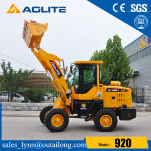 Low Price 1ton Small Wheel Loader with Joystick and A/C pictures & photos