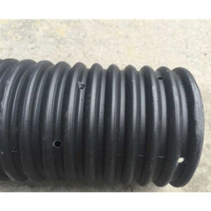 HDPE Perforated Corrugated Drainage Pipe with Geotextile pictures & photos