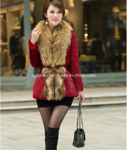 2014 Winter Ladies′ Natural Rabbit Fur Coat (Qy-C35) pictures & photos