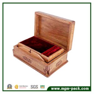 Retro Packing Wooden Storage Box with Engraving pictures & photos
