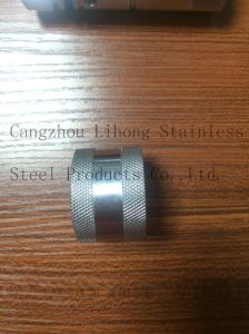 Stainless Steel Pipe Fittings Knurling Nipple pictures & photos