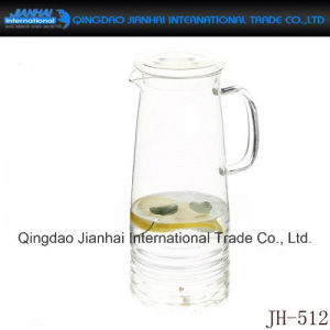 Cold Water Glass Bottle with Handle and Cover pictures & photos