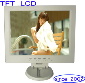 Brand New Car POS 12 Inch LCD Monitor White Color in Stock pictures & photos